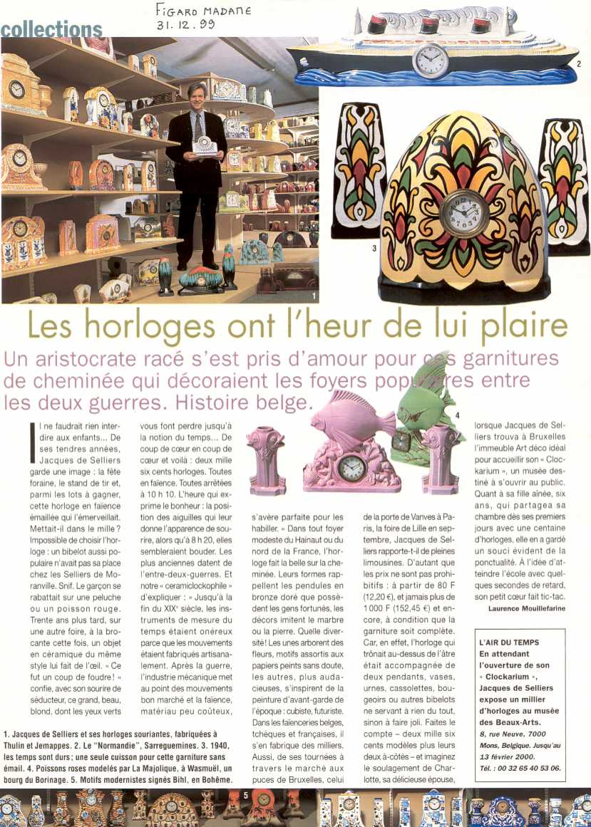 livre de presse du clockarium. Black Bedroom Furniture Sets. Home Design Ideas